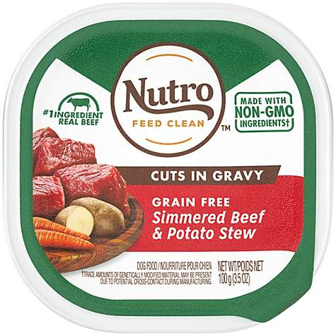 Nutro Petite Eats Signature Beef & Potato Entree Cuts in Gravy Trays Small Breed Adult Wet Dog Food