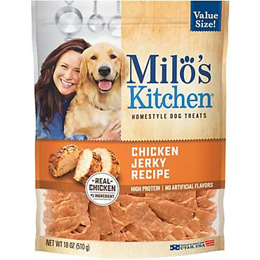 Milo's Kitchen Chicken Jerky Recipe Dog Treats