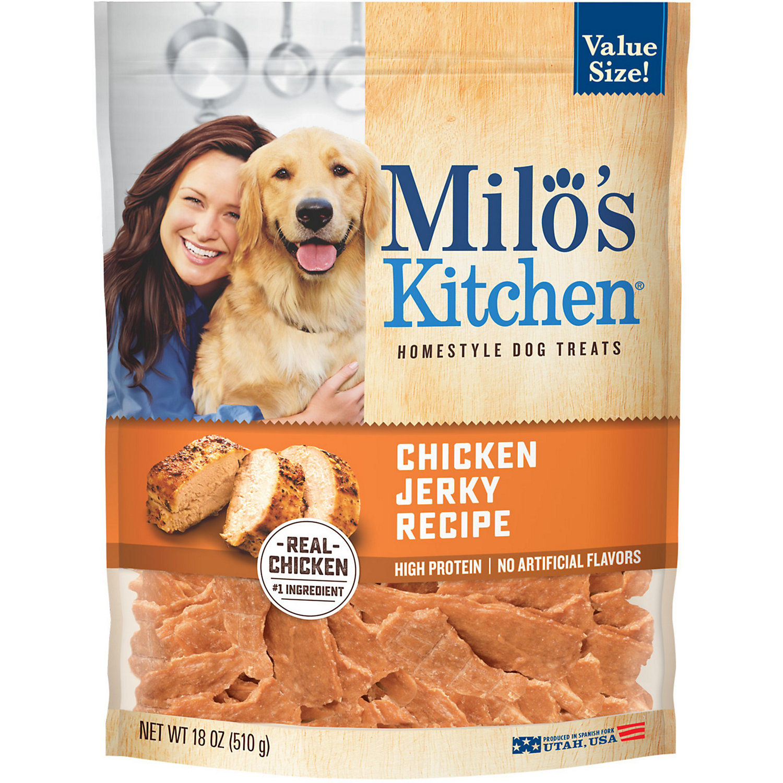 Milo S Kitchen Chicken Jerky Recipe Dog Treats 18 Oz.