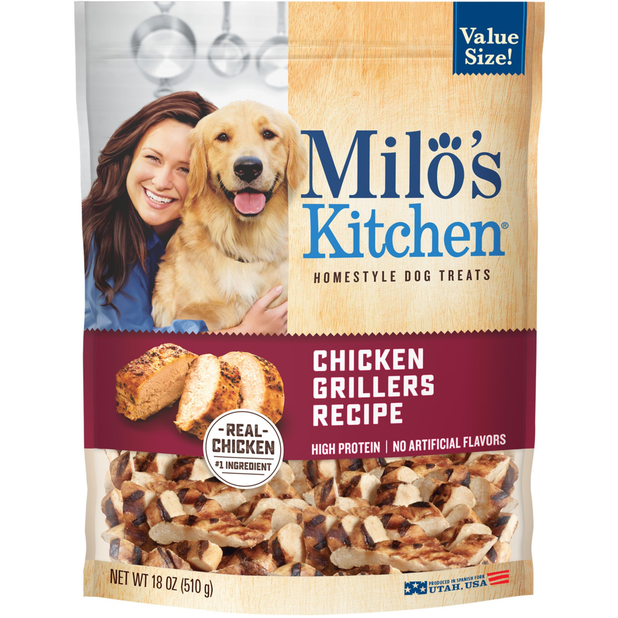 Milo's Kitchen Chicken Grillers Dog Treats, 18 oz.