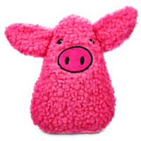 Leaps & Bounds Sherpa Teardrop Piggy Dog Toy
