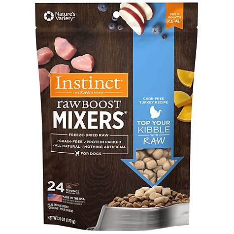 Instinct Freeze Dried Raw Boost Mixers Grain Free Turkey All Natural Dog Food Topper by Nature's Variety