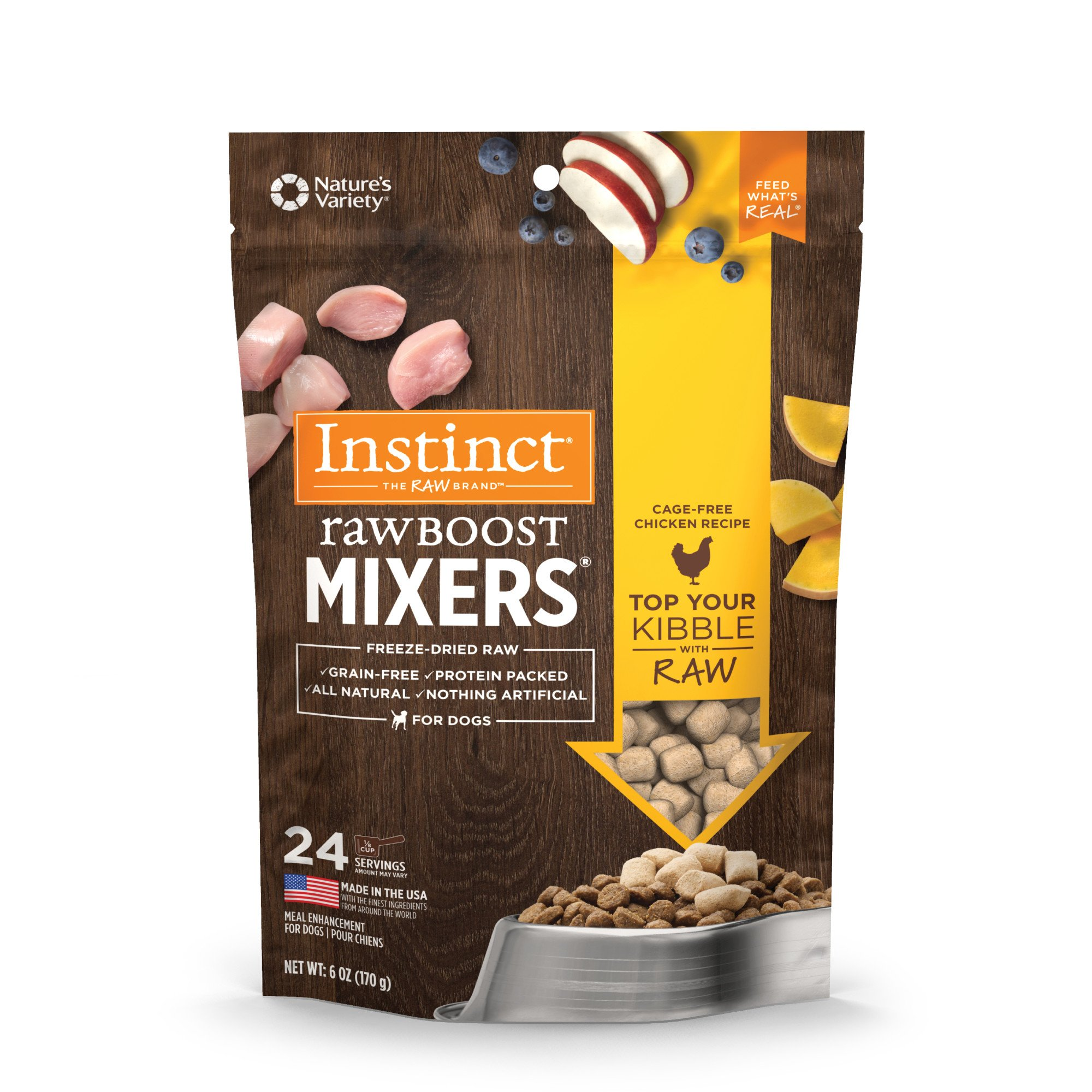Instinct Freeze Dried Raw Boost Mixers Grain Free Chicken All