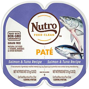 Nutro Perfect Portions Real Salmon and Tuna Pate Wet Cat Food Trays