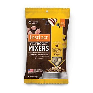Instinct Freeze Dried Raw Boost Mixers Grain Free Chicken All Natural Dog Food Topper by Nature's Variety