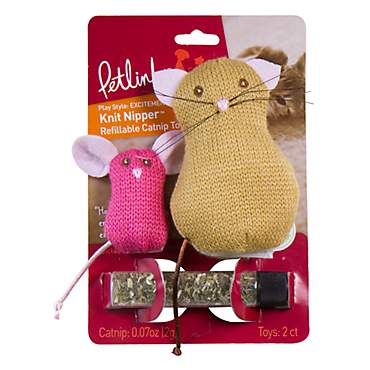 Petlinks Knit Nipper Cat & Mouse Refillable Catnip Toys