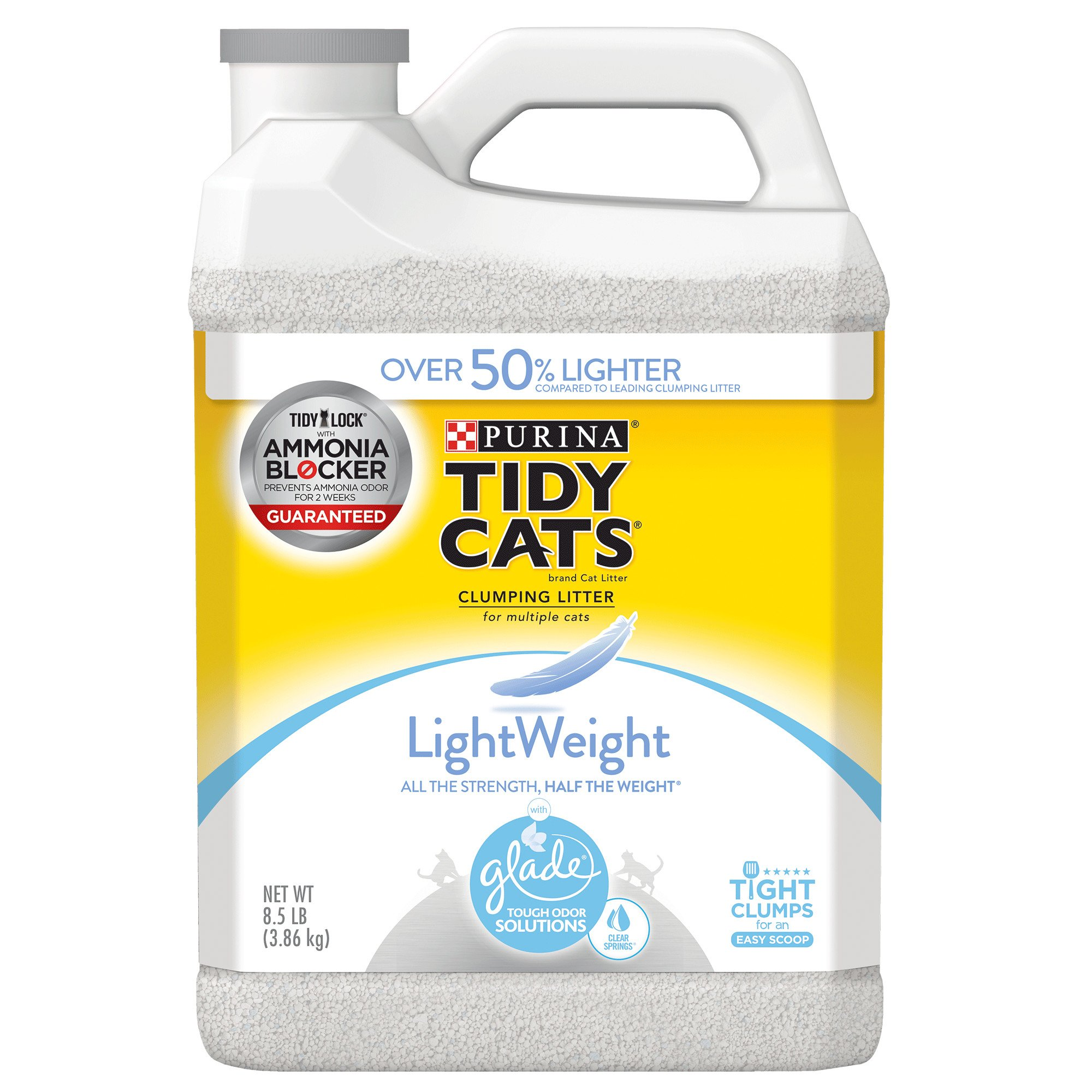 Purina Tidy Cats Glade Tough Odor Solutions Clear Springs Clumping Cat *Purina Tidy Cats Glade Tough Odor Solutions Clear Springs Clumping Cat Litter by *Purina Tidy Cats. $ $ 17 FREE Shipping on eligible orders. 2 out of 5 stars 1.