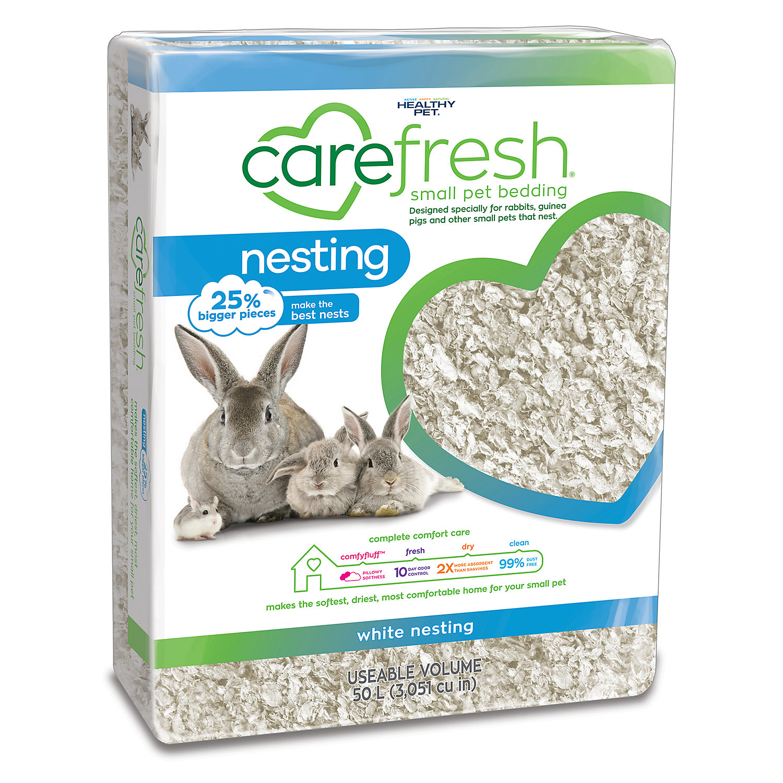 Carefresh Custom Guinea Pig Rabbit White Bedding 50 Liters