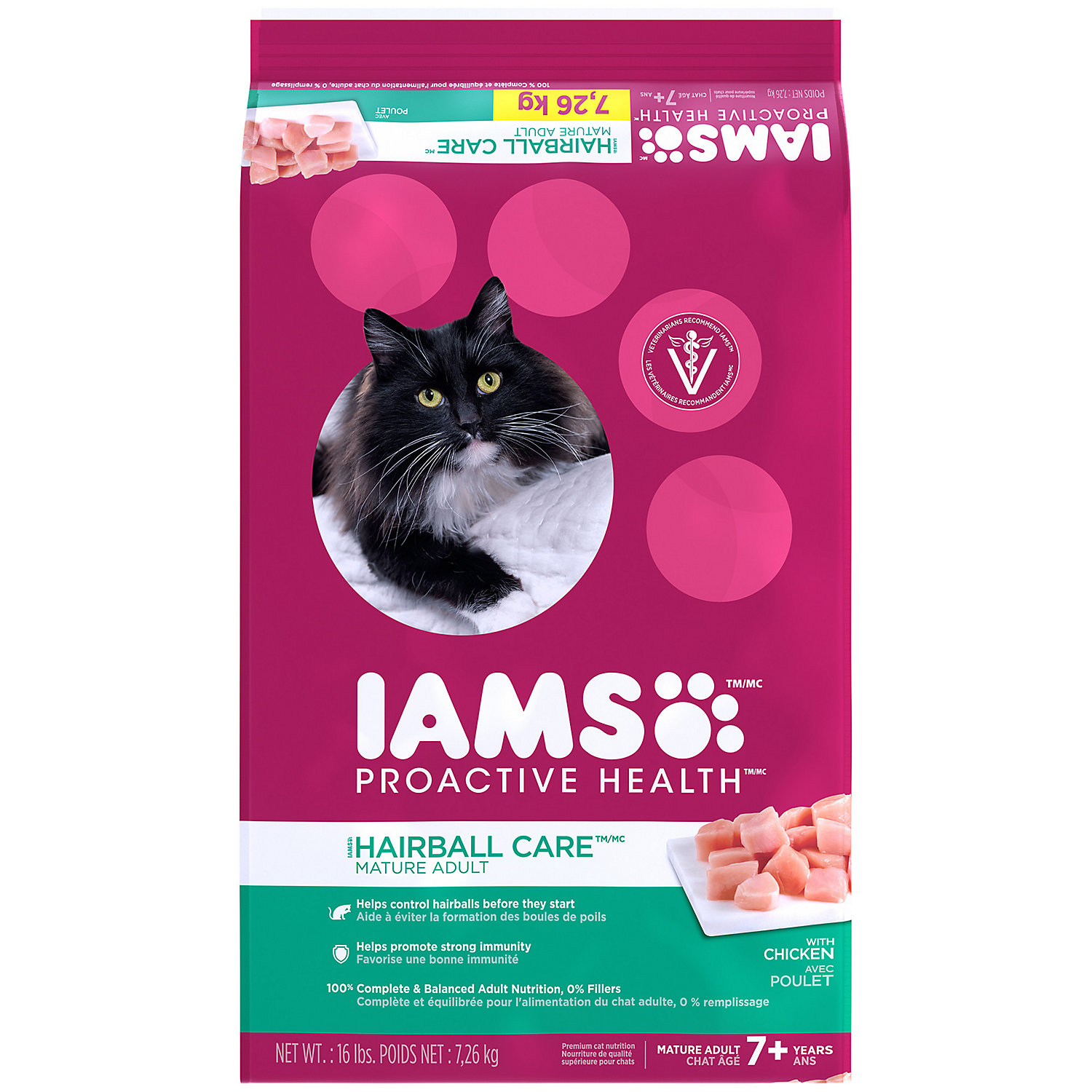 Iams Proactive Health Mature Adult Hairball Care Dry Cat Food