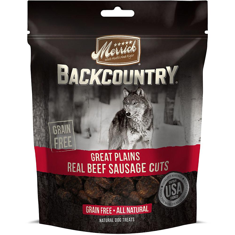 Merrick Backcountry Great Plains Real Beef Sausage Cuts Grain Free Dog Treats, 5 oz.