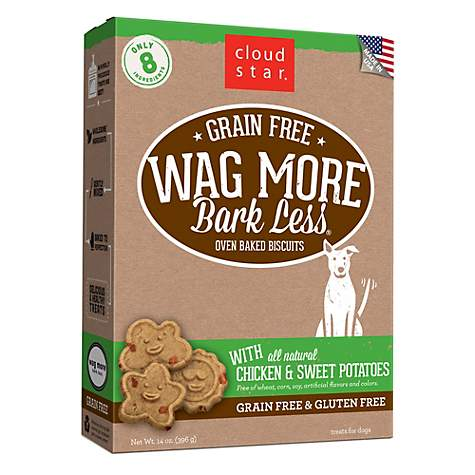 Cloud Star Wag More Bark Less Oven Baked Grain Free Chicken & Sweet Potatoes Dog Treats