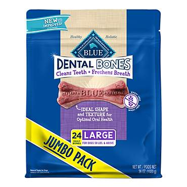 Blue Buffalo Blue Dental Bones Large Size Dog Chews
