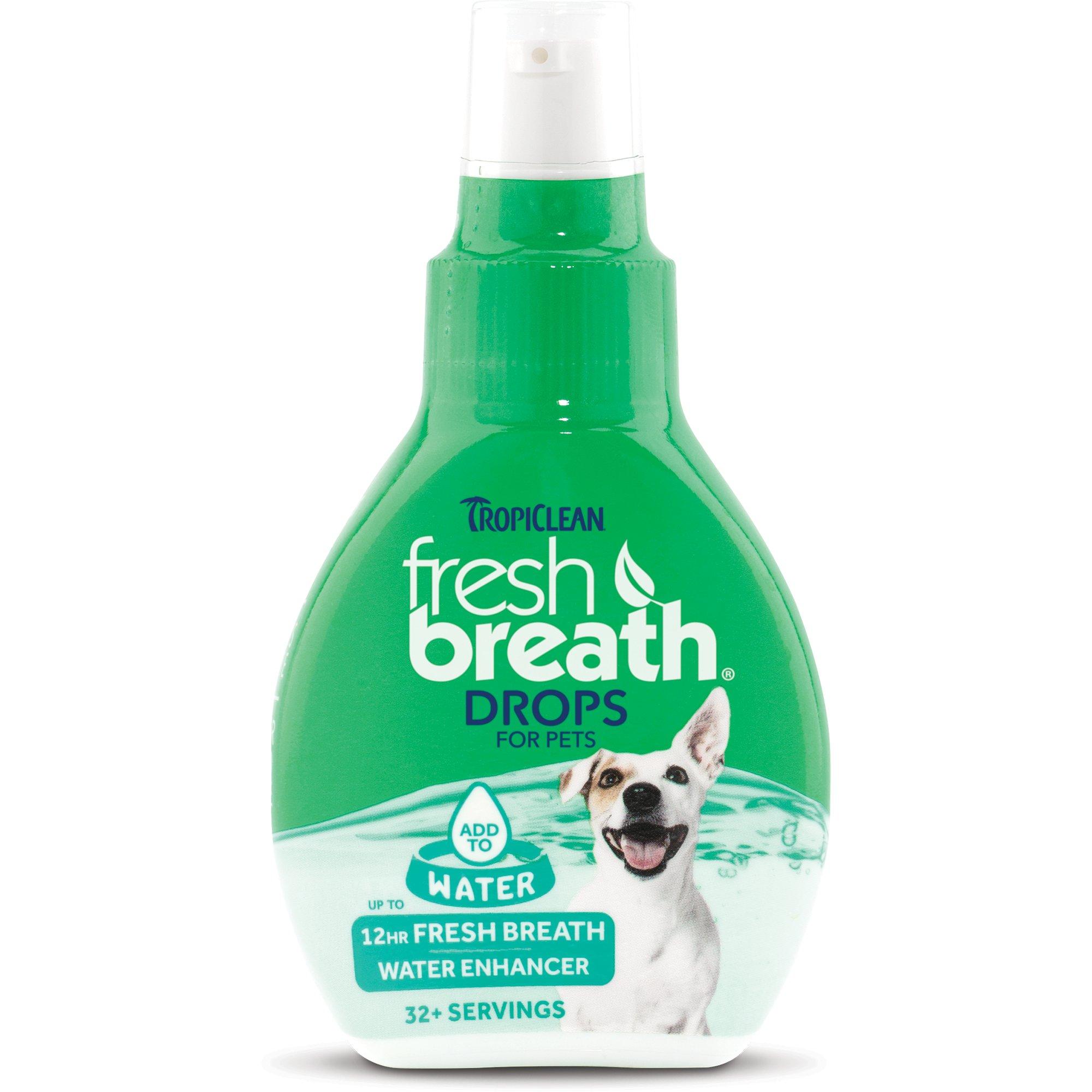 TropiClean Fresh Breath Pet Water Enhancer Drops | Petco