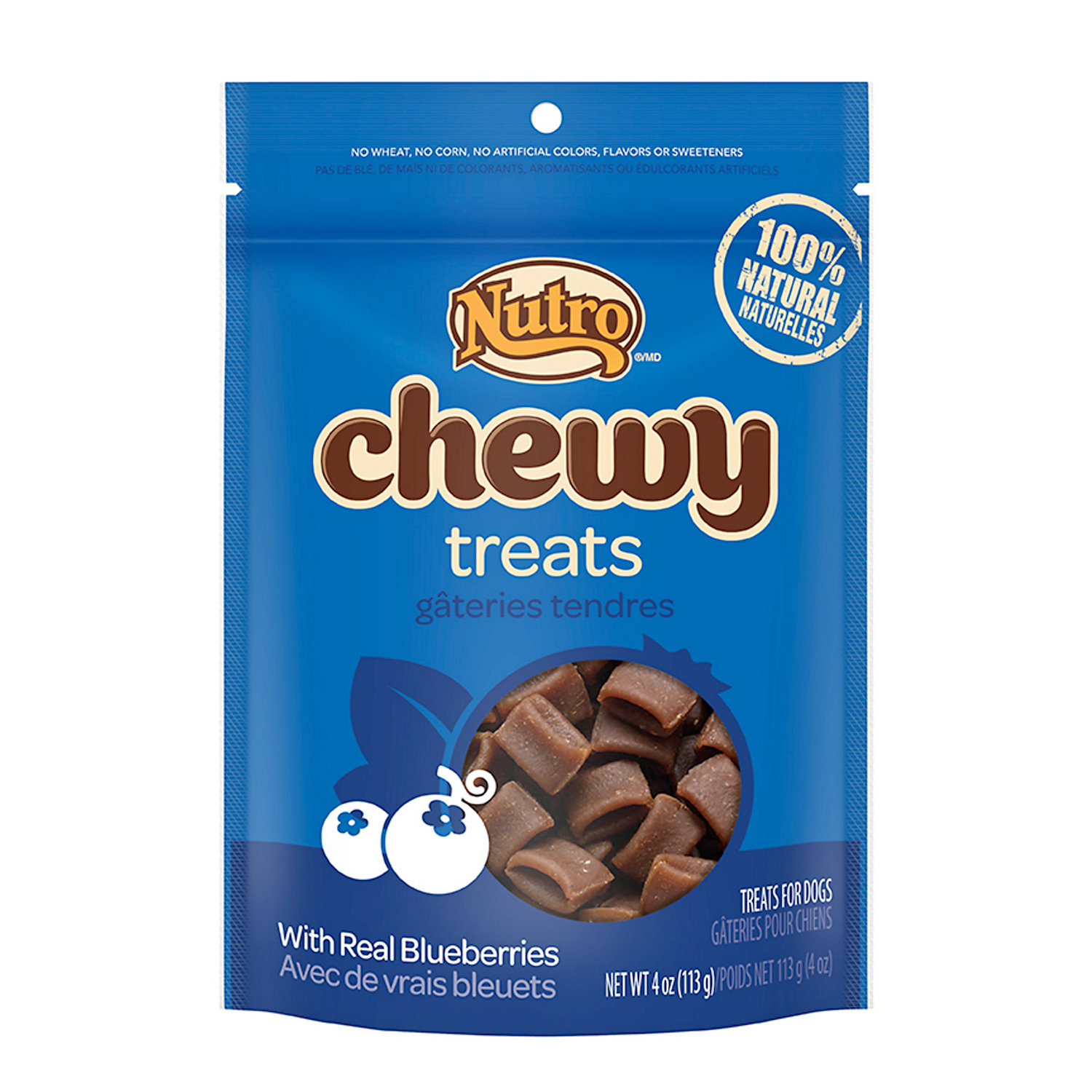 Nutro Chewy Treats With Real Blueberries 100% Natural Treats For Dogs