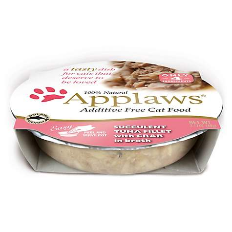 Applaws Tuna Fillet with Crab Peel & Serve Pot Cat Food