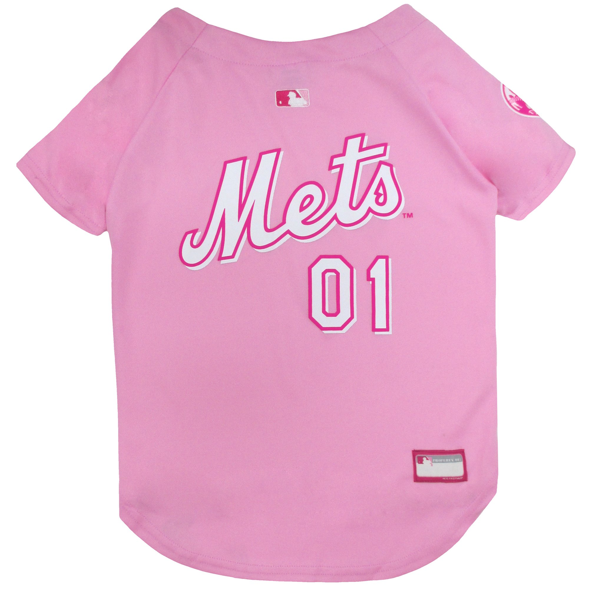 buy online 25f3a 9ae24 Pets First Pink New York Mets Jersey, X-Small | Petco