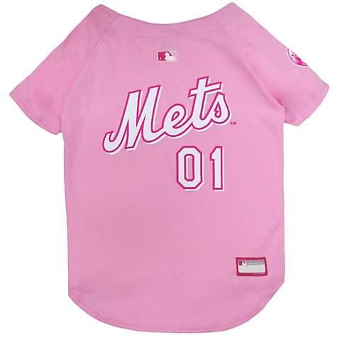 finest selection cc6d0 e6d8d Pets First Pink New York Mets Jersey, X-Small