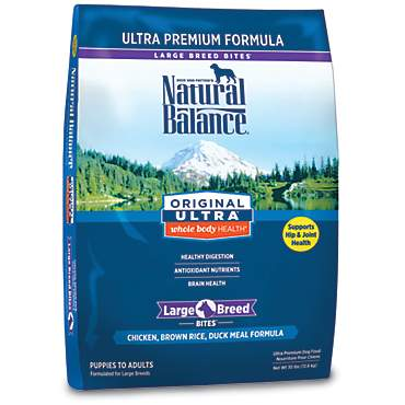 Natural Balance Original Ultra Whole Body Health Large Breed Chicken, Brown Rice & Duck Meal Dog Food