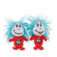 Dr. Seuss Thing 1 & Thing 2 Dog Toy