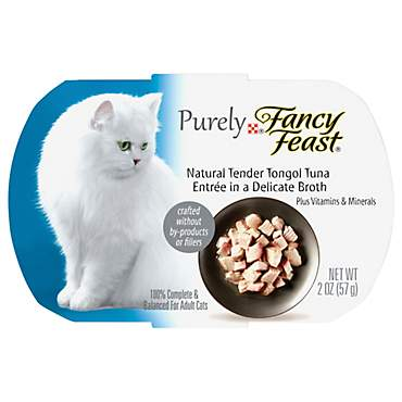 Fancy Feast Purely Tongol Tuna Adult Wet Cat Food Trays