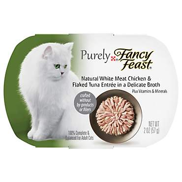 Fancy Feast Purely Chicken & Tuna Adult Wet Cat Food Trays