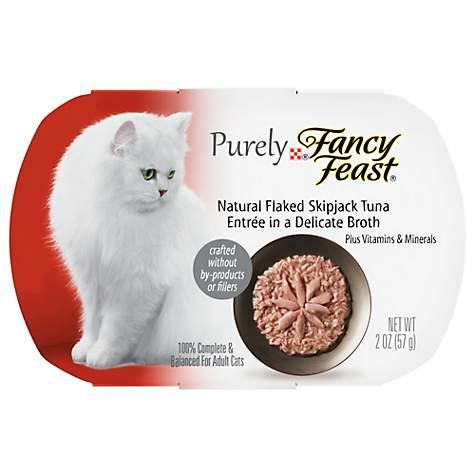Fancy Feast Purely Skipjack Tuna Adult Cat Food Trays