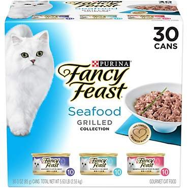 Purina Fancy Feast Grilled Seafood Collection Wet Cat Food Variety Pack