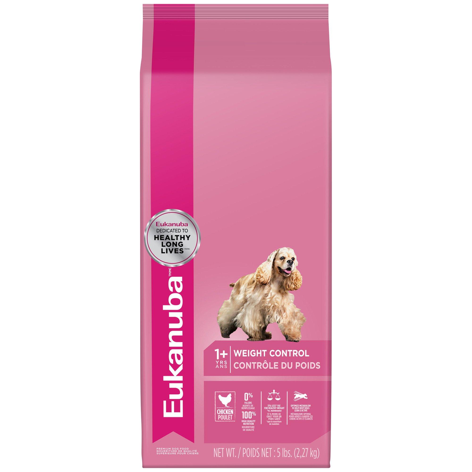Eukaunba Adult Weight Control Dry Dog Food, 5 lbs