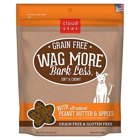 Cloud Star Wag More Bark Less Soft & Chewy Peanut Butter & Apples Dog Treats