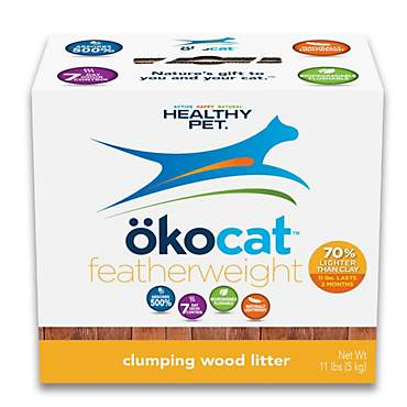 okocat featherweight Naturally Lightweight Clumping Wood Cat Litter
