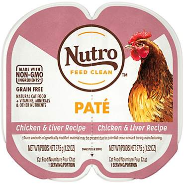 Nutro Perfect Portions Real Chicken and Liver Pate Wet Cat Food Trays