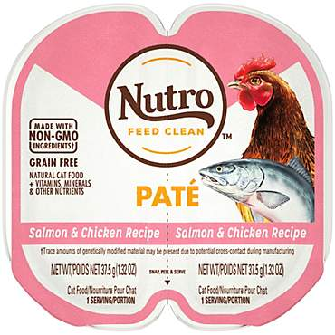 Nutro Perfect Portions Real Salmon and Chicken Pate Wet Cat Food