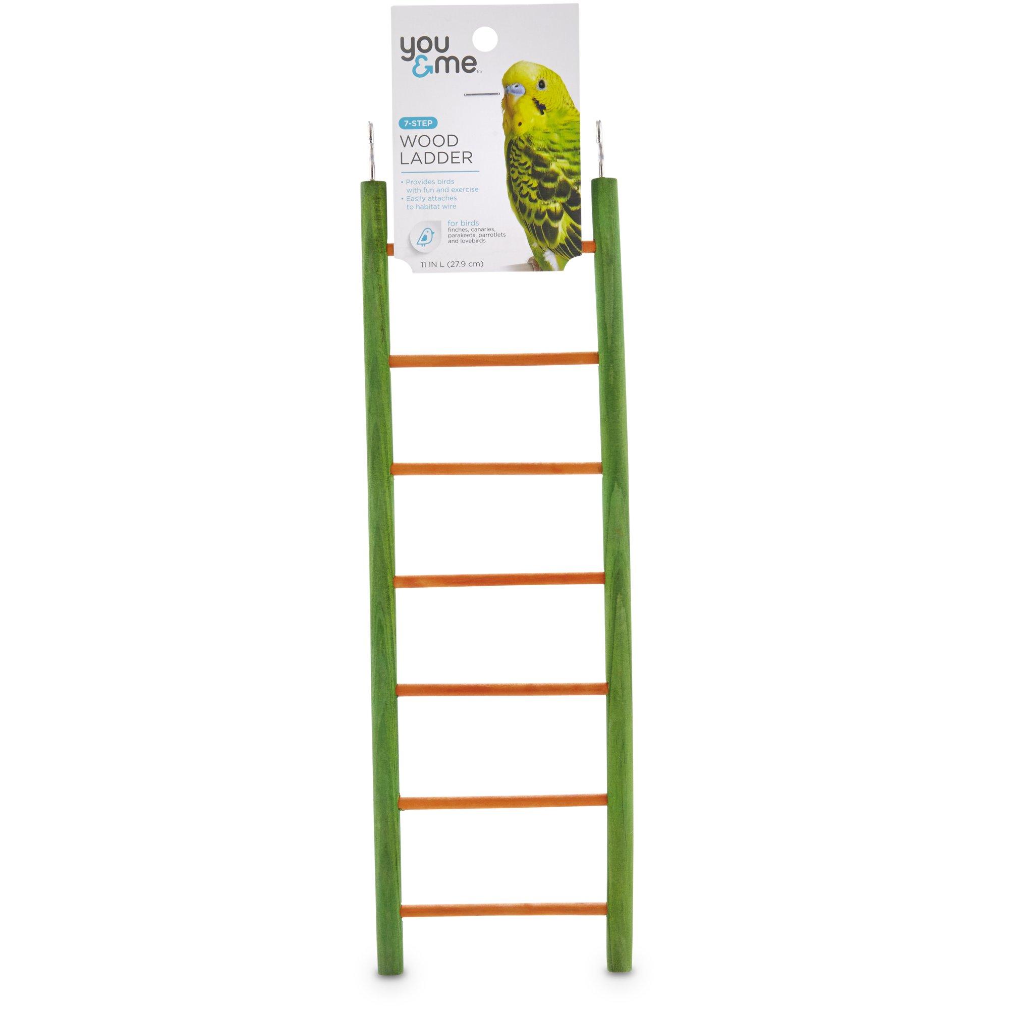 You & Me Bird 7-Step Wood Bird Ladder   Petco