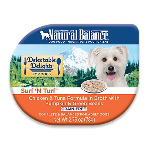 Natural Balance Delectable Delights Grain Free Surf N Turf Chicken