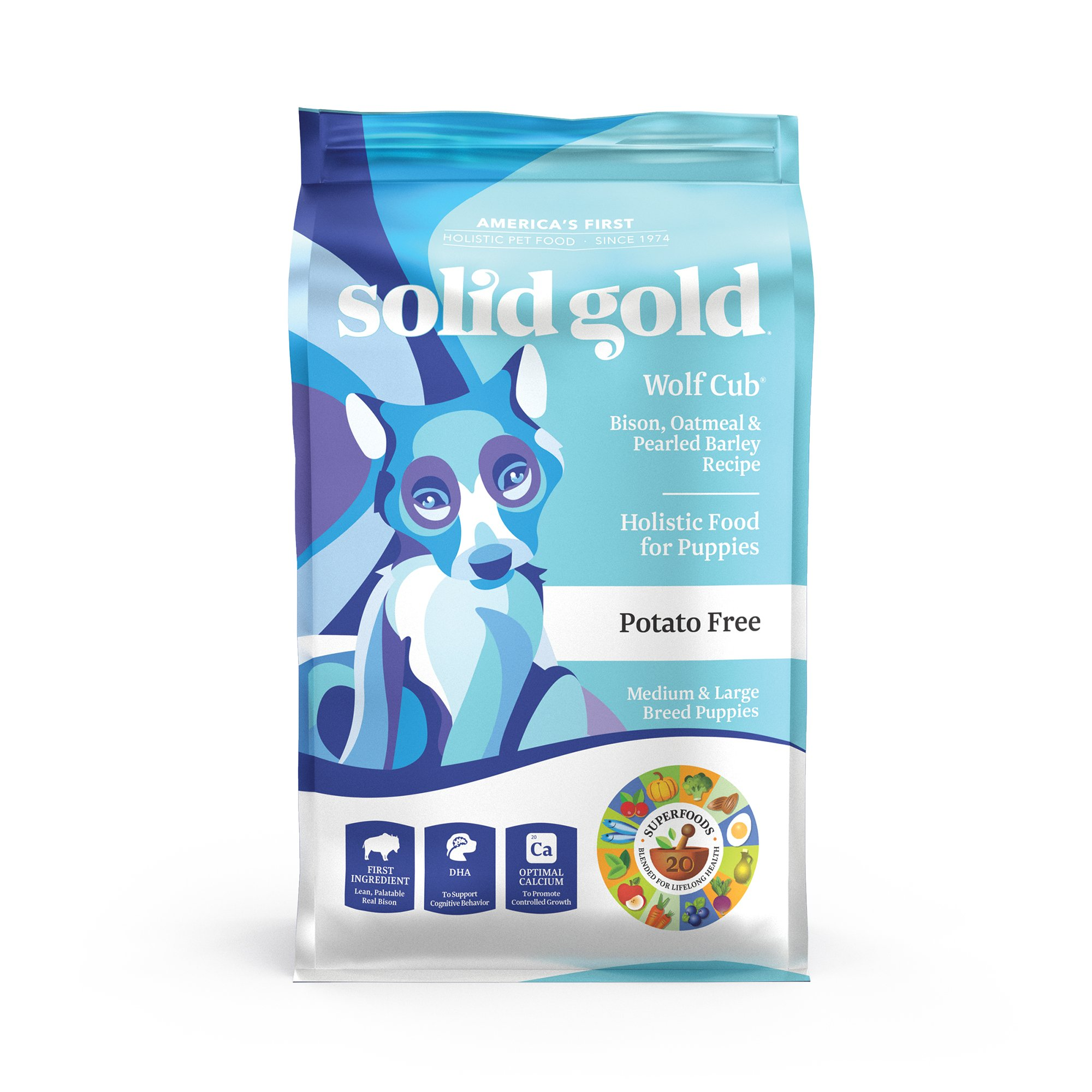 Solid Gold Wolf Cub Bison Oatmeal Puppy Food Petco