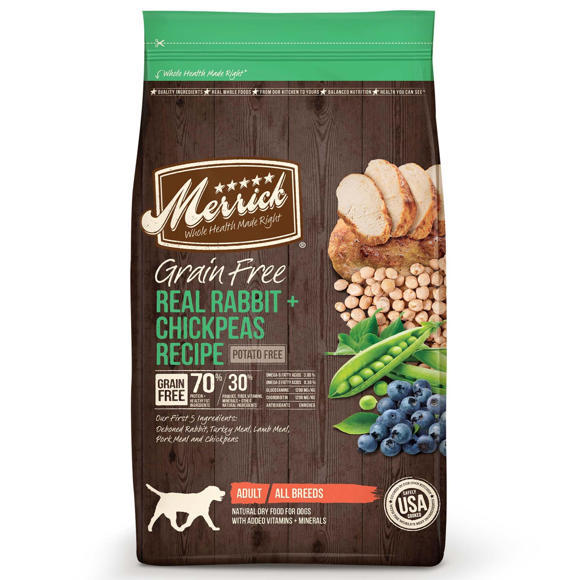 Merrick Grain Free Real Rabbit Chickpeas Dry Dog Food Petco