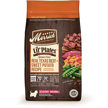 Merrick Lil' Plates Grain Free Texas Real Beef + Sweet Potato Small Breed Dry Dog Food