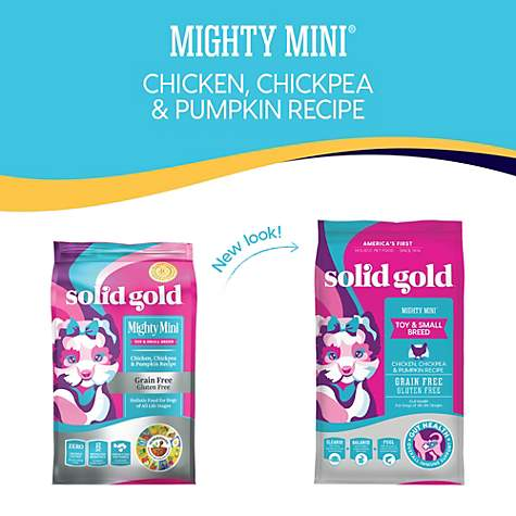 Solid Gold Grain-Free Mighty Mini with All Natural Chicken, Chickpea and  Pumpkin Recipe Dry Dog Food, 11 lbs