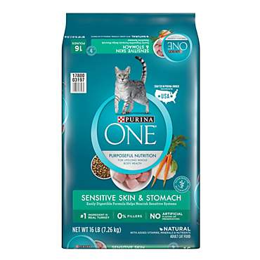 Purina ONE Natural Sensitive Skin & Stomach Formula Dry Cat Food