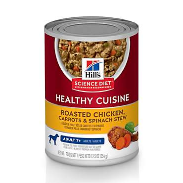 Hill's Science Diet Healthy Cuisine Adult 7+ Roasted Chicken, Carrots, & Spinach Stew Canned Dog Food