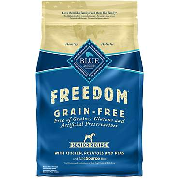 Blue Buffalo Blue Freedom Grain-Free Chicken Recipe Senior Dry Dog Food