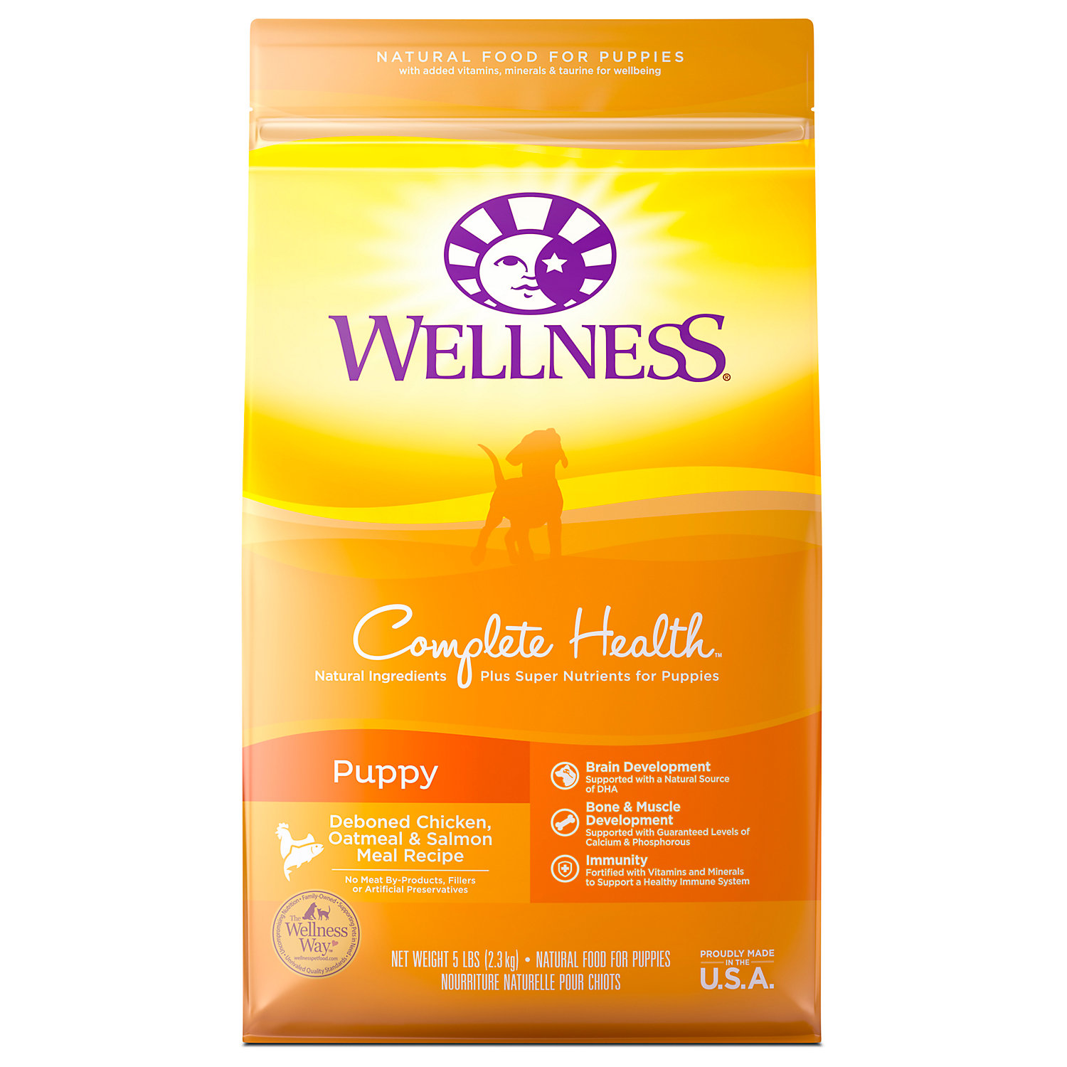 Wellness Complete Health Natural Puppy Recipe Dry Dog Food, 5 Lbs.