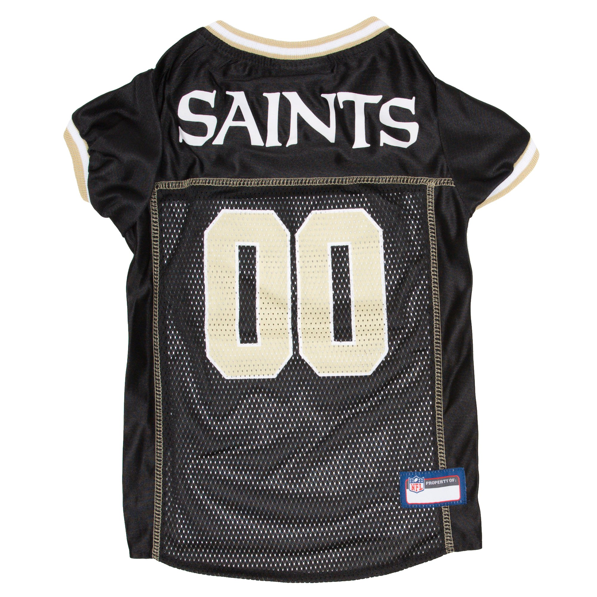 new styles 67217 68bf1 Pets First New Orleans Saints NFL Mesh Pet Jersey, X-Small ...