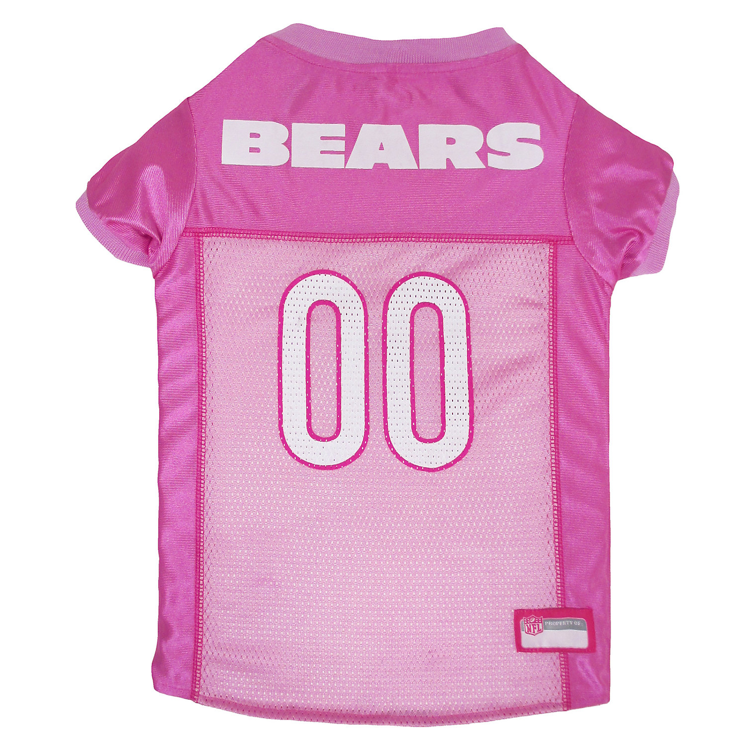 Pets First Chicago Bears Nfl Pink Mesh Jersey, Large