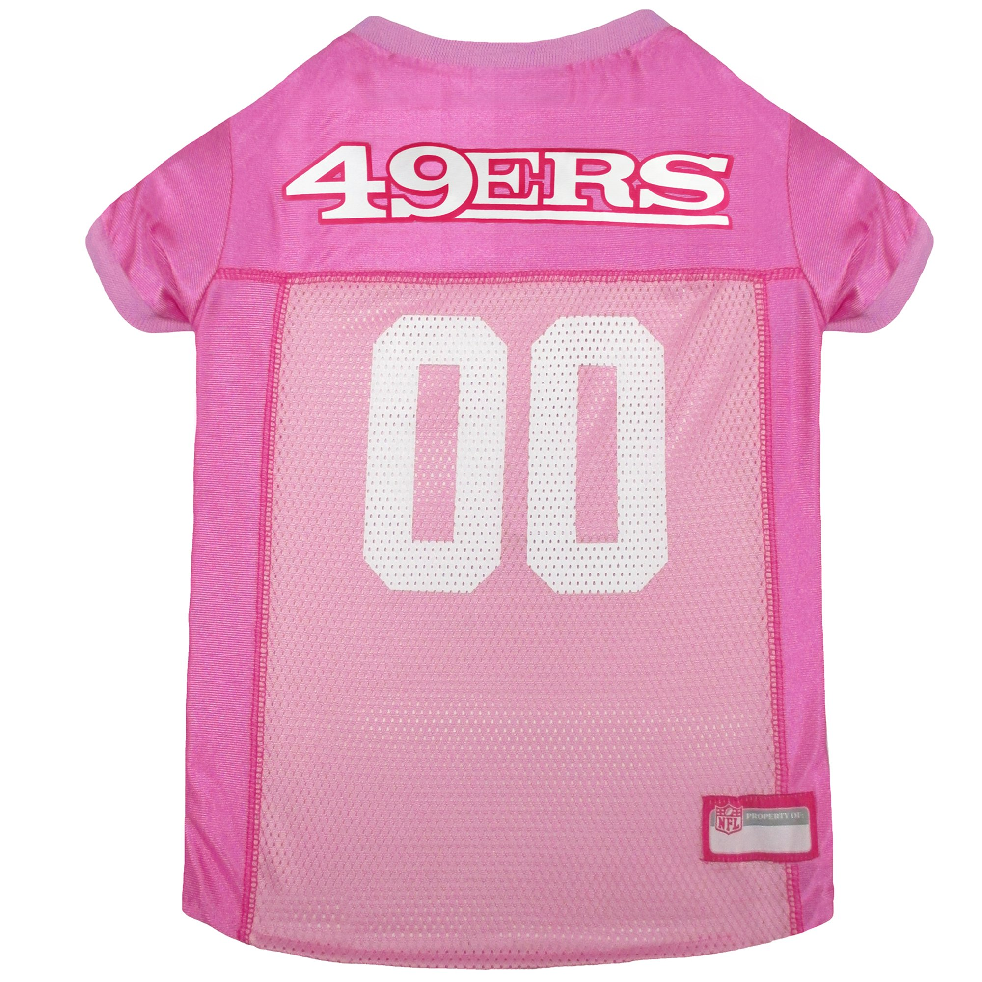 reputable site ae513 941e0 Pets First San Francisco 49ers NFL Pink Mesh Jersey, Medium | Petco