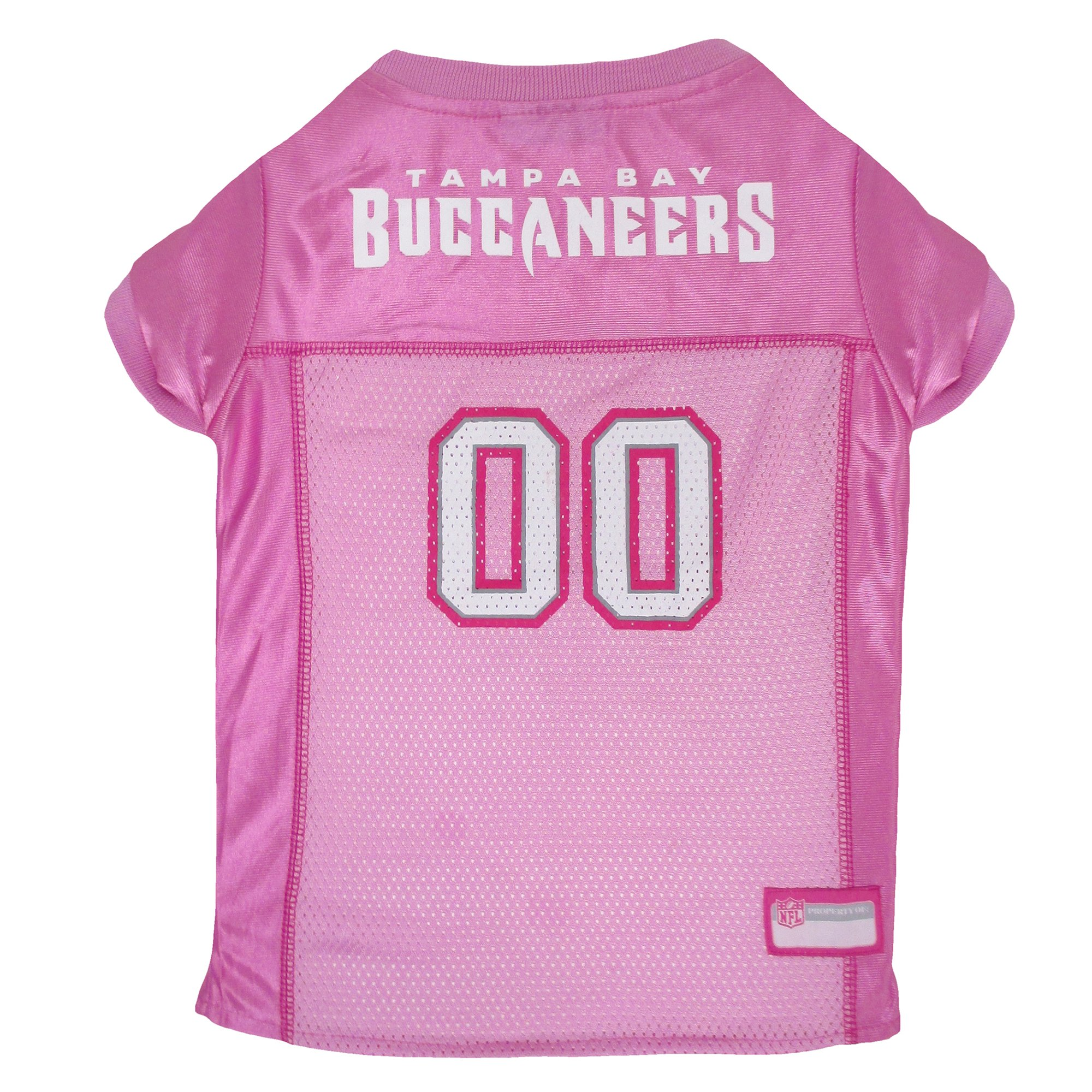 5f17b6fd Pets First Tampa Bay Buccaneers NFL Pink Mesh Jersey, Small | Petco