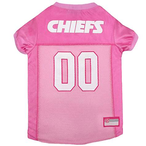 Pets First Kansas City Chiefs NFL Pink Mesh Jersey