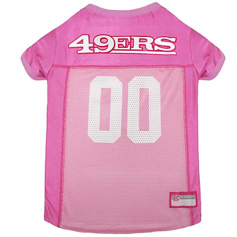 new concept 286b7 67600 Pets First San Francisco 49ers NFL Pink Mesh Jersey, Large