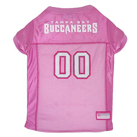 a9646e76 Pets First Tampa Bay Buccaneers NFL Pink Mesh Jersey, Small | Petco