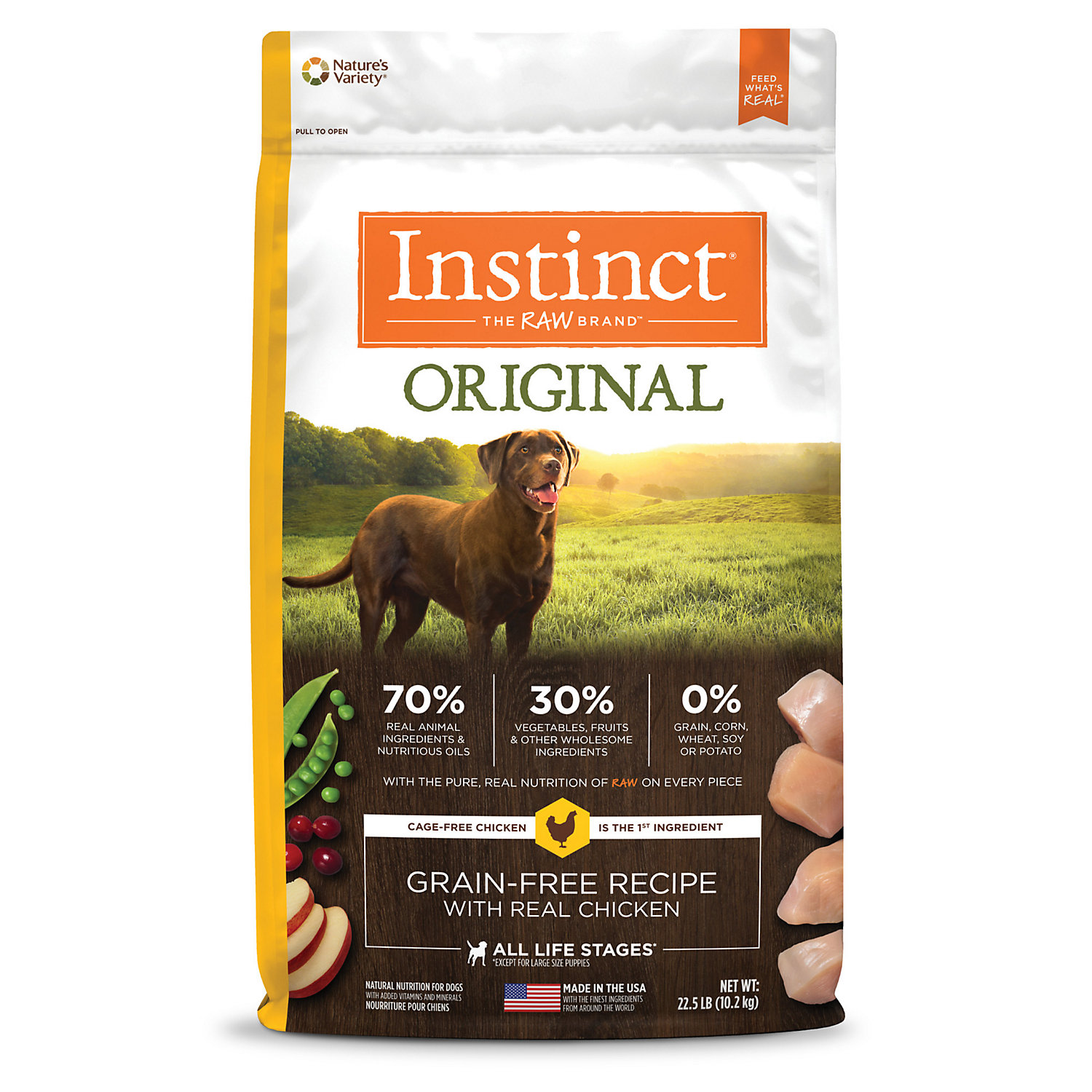 Upc 769949657255 Nature S Variety Instinct Grain Free Chicken Meal Formula Kibble For Dogs